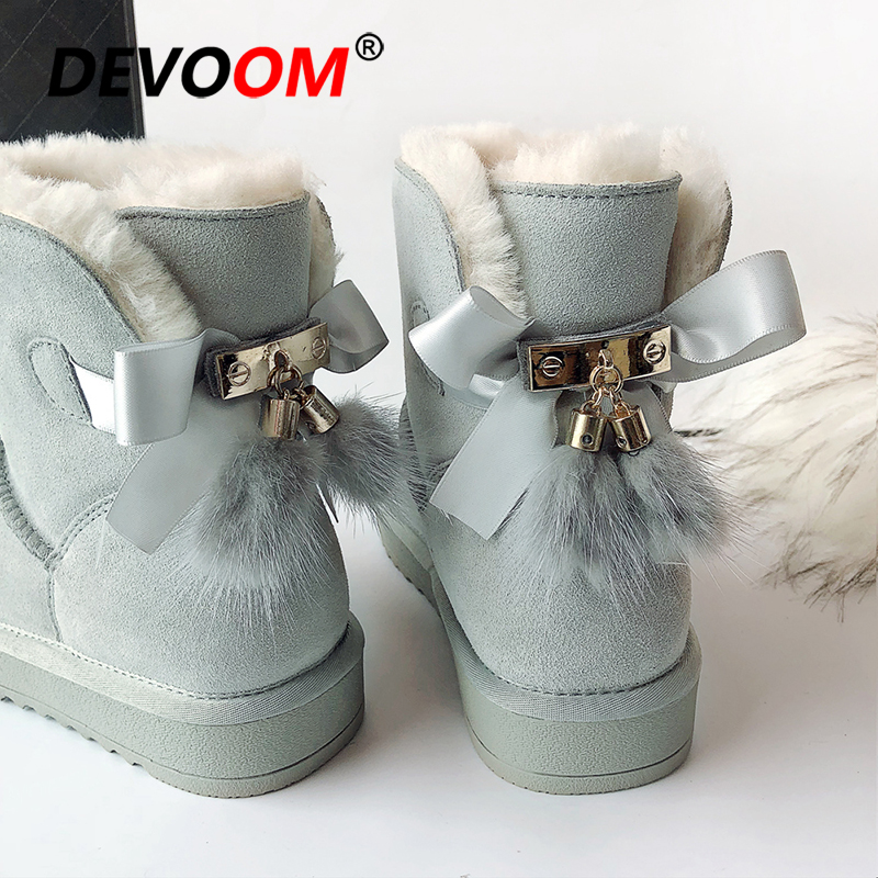 Fashion Brand Quality Australian Boots Women Genuine Leather Boot Snow Ankle Winter Boots Women Suede Snow Boots Winter Shoes