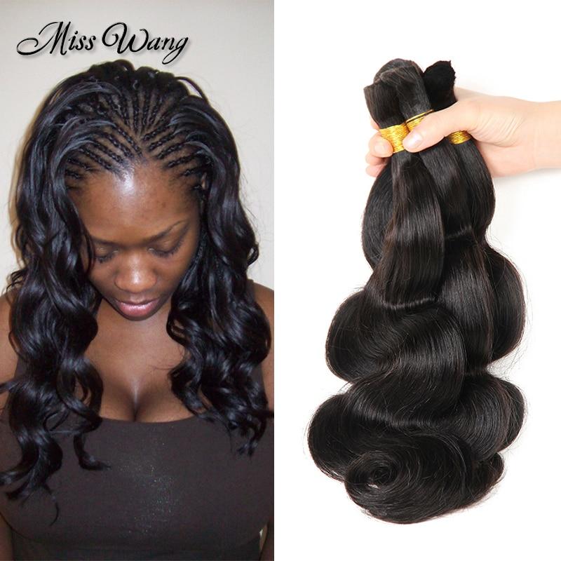 Top2016 African American Human Braiding Hair Bulk No Weft 3pcs