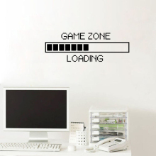 Game Zone Computer Gaming Wall Sticker Loading Wallpaper Decal Graphics Interior Home Decor Playroom Vinyl ZW144