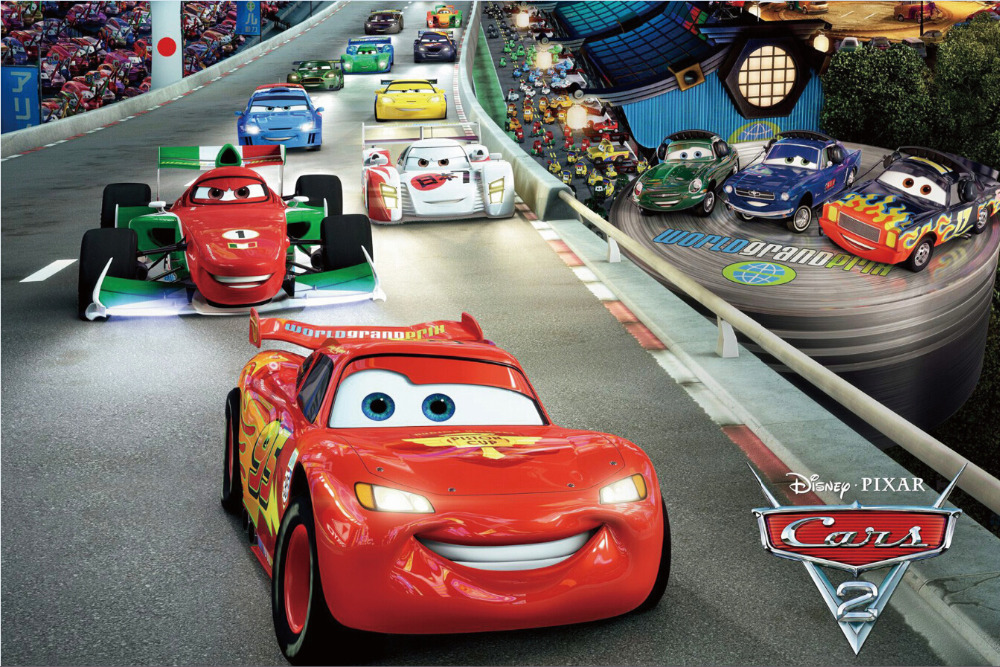 Free Shipping Cars 2 Race Movie Poster Hd Home Wall Decor Custom Art