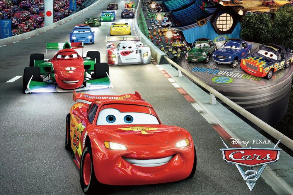 Free Shipping Cars 2 Race Movie Poster Hd Home Wall Decor Custom
