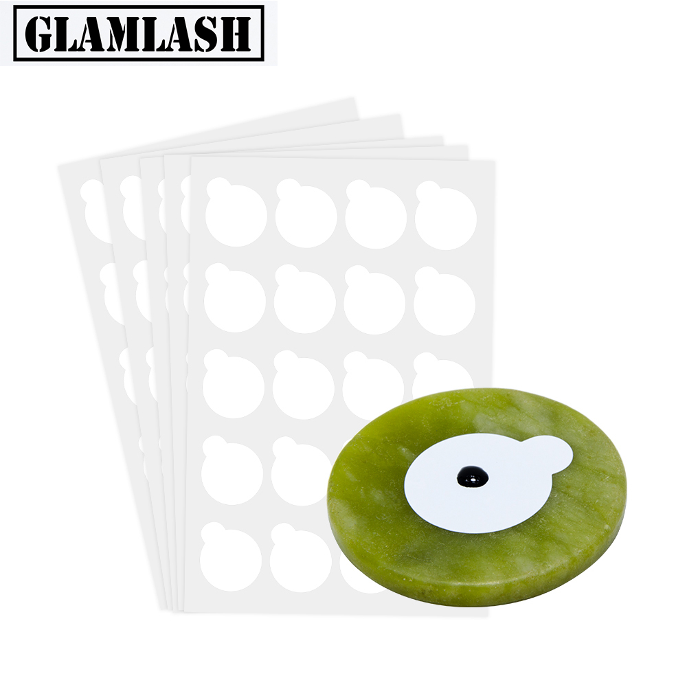 GLAMLASH Round Jade Stone False Lash Glue Adhesive Pallet Pad Holder for Eyelashes Extensions Makeup Tool