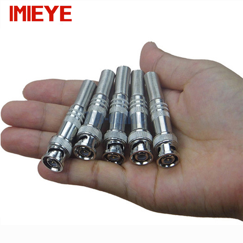 IMIEYE 5pcs/lot Copper BNC Connector CCTV Accessory For RG-59 Coaxical Cable And Surveillance Security DVR Camera Kits System ...