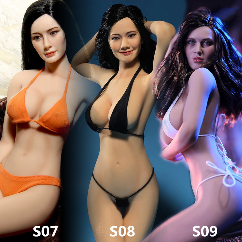 Freeshipping 1/6 Scale sexy Female figure doll 12 Super-Flexible Action figure doll Seamless Body with Stainless Steel Skeleton sexy phicen 1 6 super flexible female seamless bodywith stainless steel skeleton for 1 6 figure doll toys plmb2014 s01 s02