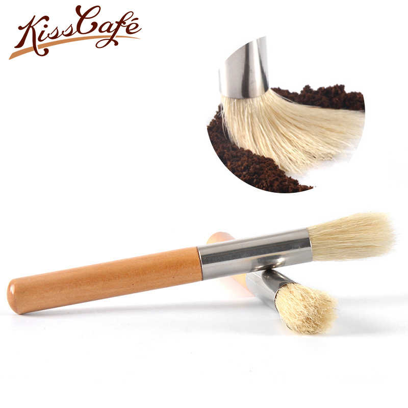 Coffee Machine Grinder Cleaning Brush Bristle Wooden Handle Coffee Milk Powder Brushes Household Bar Cleaning Brush Coffee