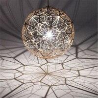 Etch Web aluminium pendelleuchte Kreative Kunst Hängen Beleuchtung Diamant Ball Pendelleuchte Gold/Silber 40 cm Ball Lampe DY-1006
