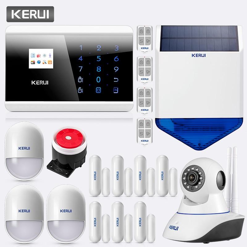 KERUI 8218G GSM PSTN sans fil 433 MHz système d'alarme antivol de sécurité à domicile APP IOS Android anglais russe français espagnol italien