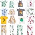 2017 niños del verano del resorte de impresión león bebé ropa niños hoodies + pants 2 unids ropa conjuntos bobo chose vestidos vetement enfant