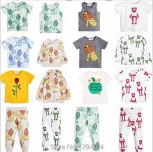 summer kids lion frog print baby boy clothes hoodies+pants 2 pcs clothing sets bobo chose vestidos children clothing girls cloth