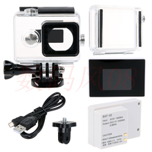 LCD Display + Waterproof Housing Case + xiaoyi  2400Mah Battery + BacPac Backdoor xiaoyi yi action camera accessories Xiaomi Yi
