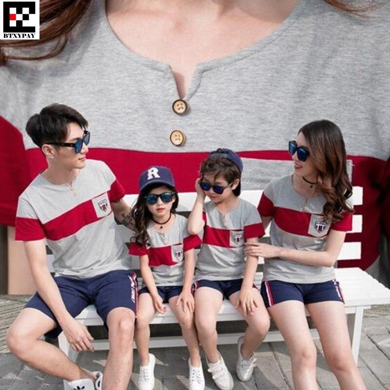 bf9c9ef506c9931 10 p летние футболки для родителей и детей одинаковые комплекты для семьи  для мальчиков и девочек