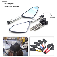 Motor Rearview Mirror Scooter Parts Universal motorcycle Scooter Rearview for KAWASAKI ZX636R ZX6R ninja 250 300 650 Hyosung bmw