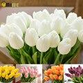 Umiwe 10/30 unids PU Fake Tulipanes de Seda Artificial Flores Artificiales Ramos de Flores Artificiales Para El Hogar Decoración de La Boda Del Partido