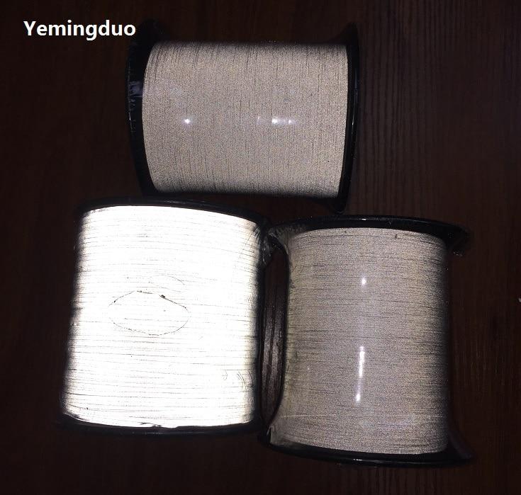 1.0mm*2000m Reflective Thread High Visibility Two-Side Reflective Effection Reflective Warning Safety Silk зонт светоотражающий reflective