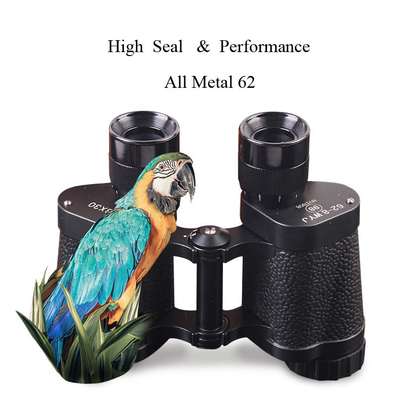TUOBING 8x30 All Metal Waterproof Binoculars High Definition Night Vision Optical Glasses With Cowhide for Hunting Spotting