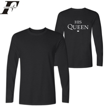 2017 Funny t shirts Men/women T-shirt Long Sleeve King Queen fitness 3D Print T ShirtS 2017 Couples Plus Size 4xl Male Shirt