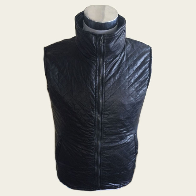 Invisible rigid anti- stab knife cut leather clothing