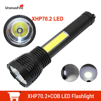 4000Lm High Power Portable Spotlight XHP70.2 LED Searchlight Built in 6600mah Battery Rechargeable Lantern Lamp Waterproof Torch