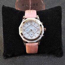 Прохладный Нейтральный Дизайн Женщин 38 ММ Большой Размер Кожа Часы Выполнимая 3 Глаза 6 Руки Аналоговые Наручные часы Марка Relojes NW7212