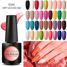 MEET ACROSS Gel Nail Polish Pure Colors Long Lasting Hybrid Lacquer DIY Nails Design Soak off