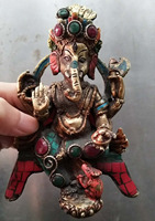 The Qing Dynasty stone Inlaid Turquoise elephant ornaments