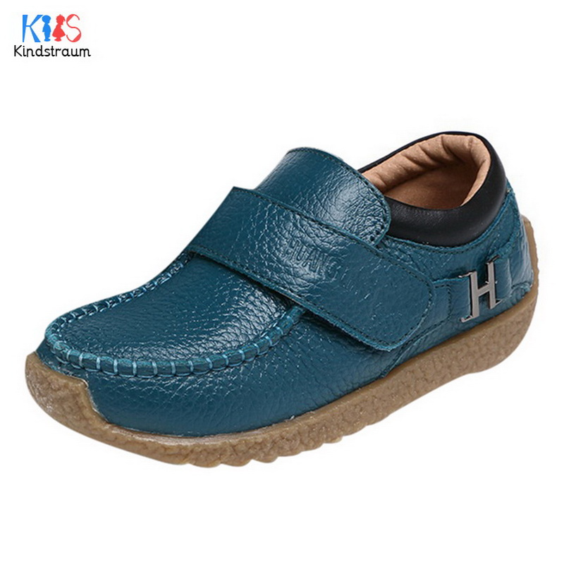 Kids Shoes Boys Genuine Leather Shoes 2017 New Children Soft Sole Shoes Casual Shoes Fashion Comfortable