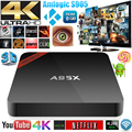 2016 a95x nexbox s905x amlogic android 6.0 caixa de tv 4 k 1g/8g quad núcleo Wifi LAN KODI H.265 16.1 Smart Media Player Set Top Box