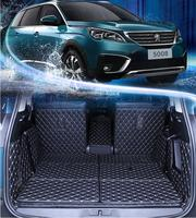 3D полный задний багажник ЛОТОК лайнер грузовой коврики пол протектор ног Pad S для 17 18 peugeot 5008 2017 2018 7 мест EMS