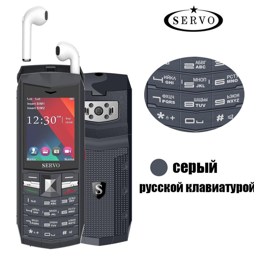 Фото. 2019 оригинальный сервопривод R26 2,4 дюйм мобильный телефон русская клавиатура FM TWS 5,0 Blue