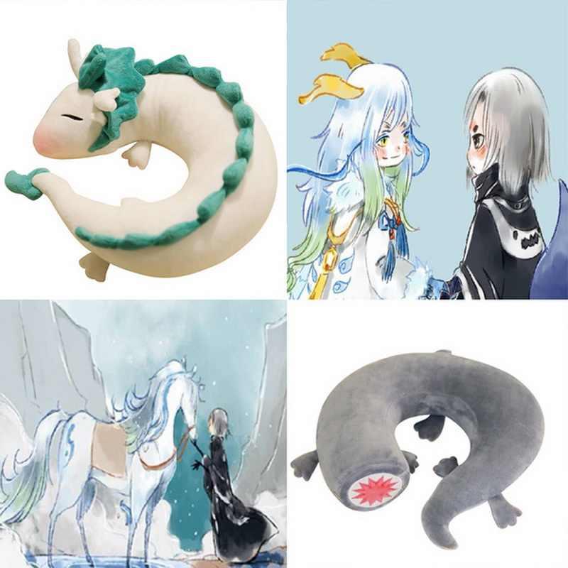 2018 Dos Desenhos Animados do Dragão Anime Hayao Miyazaki a viagem de Chihiro Haku Bonito U forma Boneca Travesseiro Brinquedos de Pelúcia bonecas de presente para Crianças & Kids