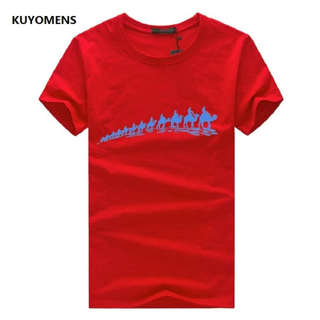 Cool Camels Convoy Print T-Shirt For Men