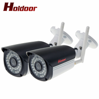 2 Pz WIFI IP Camera 1080 p megapixel Wireless IP Security Cam Con Slot Per Schede Sd HD Esterno Onvif Casa CCTV Camaras