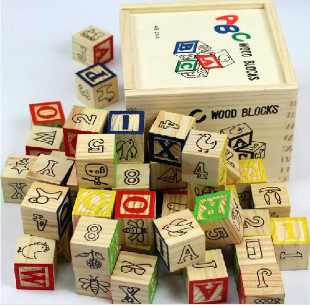 Free Delivery Educational Toys 48PCS English Alphabet A B C Blocks Learning And Education Of Baby