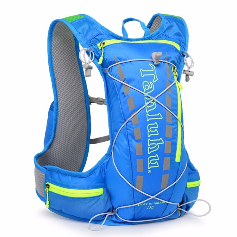 12L Nylon Waterproof Sports Backpack Running Bicycle Bag Hydration Women Men Outdoor Bike Cycling Camping Vest Backpacks цена