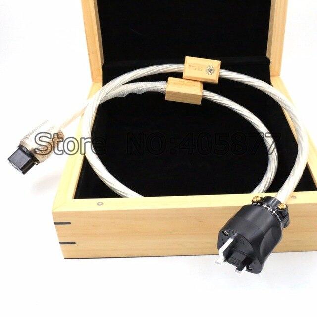 1.5m DIN 2 Supreme Reference przewód zasilający UK kabel z 20A IEC wtyczka zasilania kabel HIFI moc dźwięku