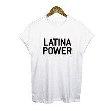 37dbbb4c56af Latina Feminist T-shirt Latina Power Slogan Womens T Shirts Feminist Top  Hipster Tumblr Harajuku Black White Print Tee Shirt