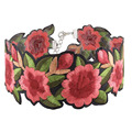 Ethnic Embroidery Choker Necklace For Women Bohemia Flower Rope Chain Choker Collar Fashion Jewelry Colliers Colar Bijous Femme