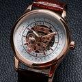 Nueva moda de lujo marca Forsining hombres mecánicos reloj de pulsera de cuero de banda militar deportivo reloj Casual regalos W18180