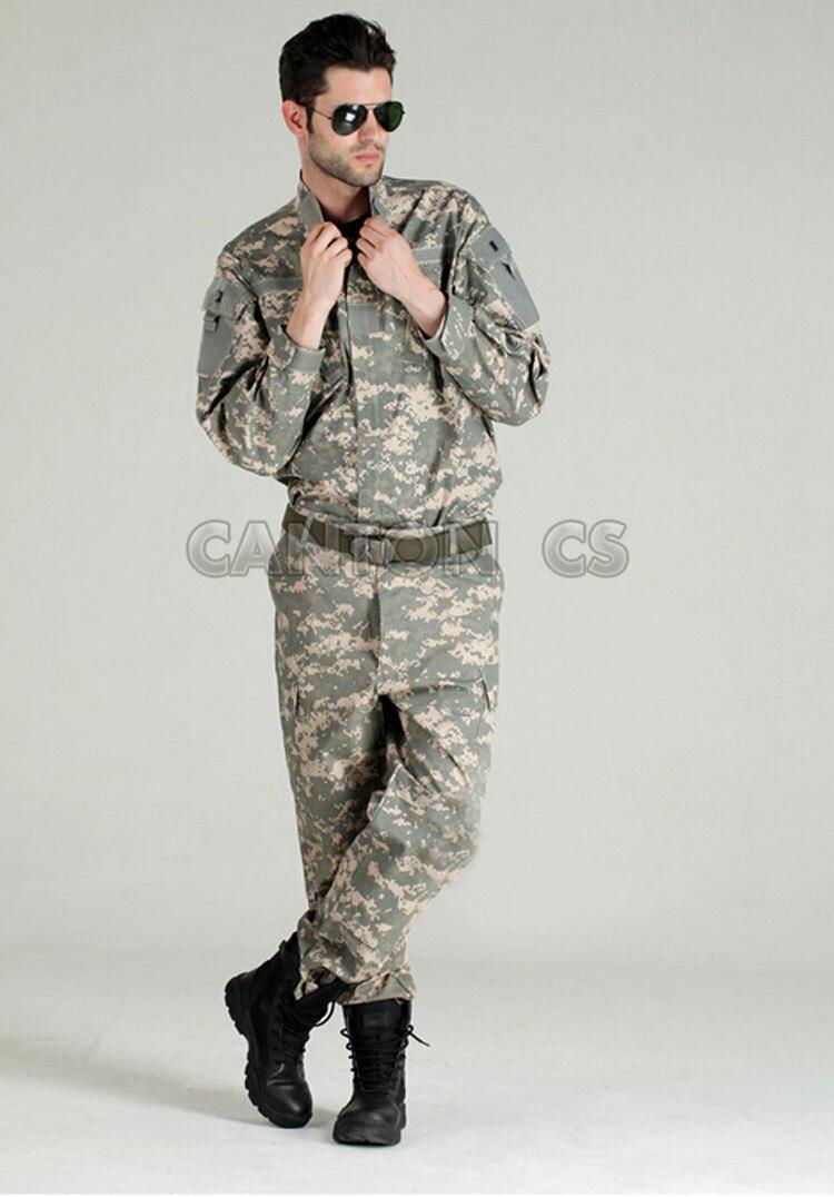 Uniforme tactique de l'armée américaine costume de Camouflage boisé uniforme de Combat militaire ensemble chemise + pantalon vêtements de chasse en plein air vêtements hommes - 5