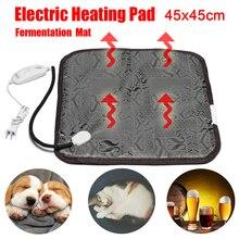Электрический нагревательный коврик для домашних животных, собак, кошек, зимний теплый коврик для кровати, электрическое одеяло для Домашнего Пива, брожения, нагреватель