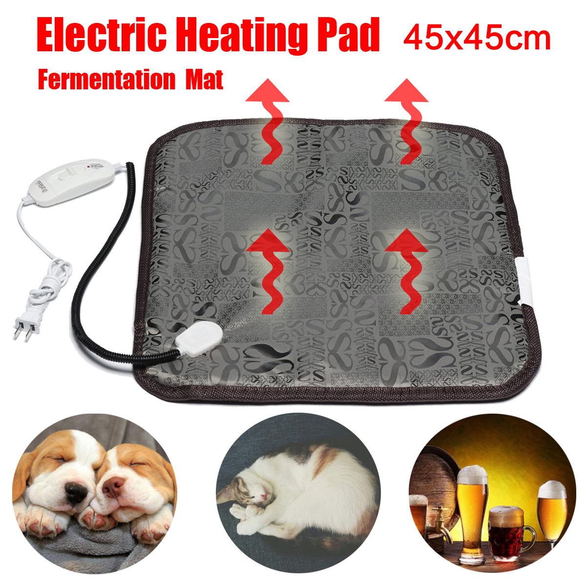 цена Pet Dog Cat Electric Heating Pad Winter Warmer Carpet for Bed Animals Electric Blanket Home Beer Brew Fermentation Heater Mat