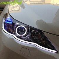2pcs Car LED Daytime Running Lights Flexible Tube Strip Style DRL Car Headlights Angel Eye With