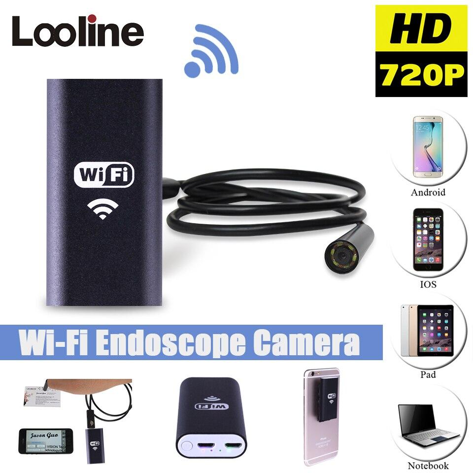 Android IOS USB Endoscope Caméra Wifi Sans Fil Endoscope Serpent D'inspection Endoscope Vidéo Tube Mini USB WI-FI Caméra 1 M Câble