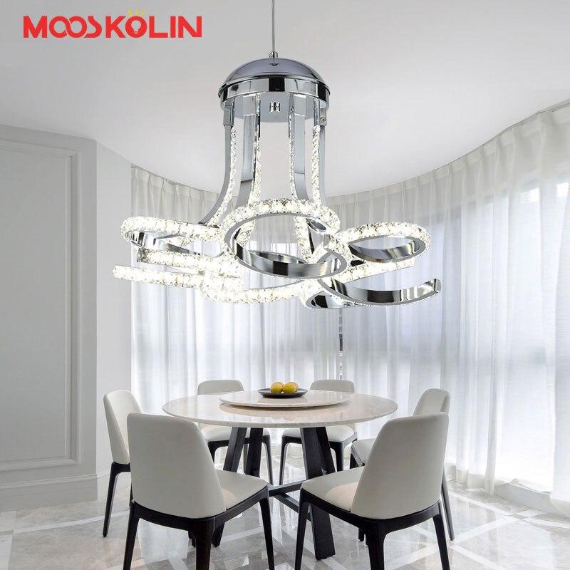 Modern creative crystal chandeliers lighting for Dining room Bedroom indoor lamp K9 crystal lustres de teto ceiling chandelier