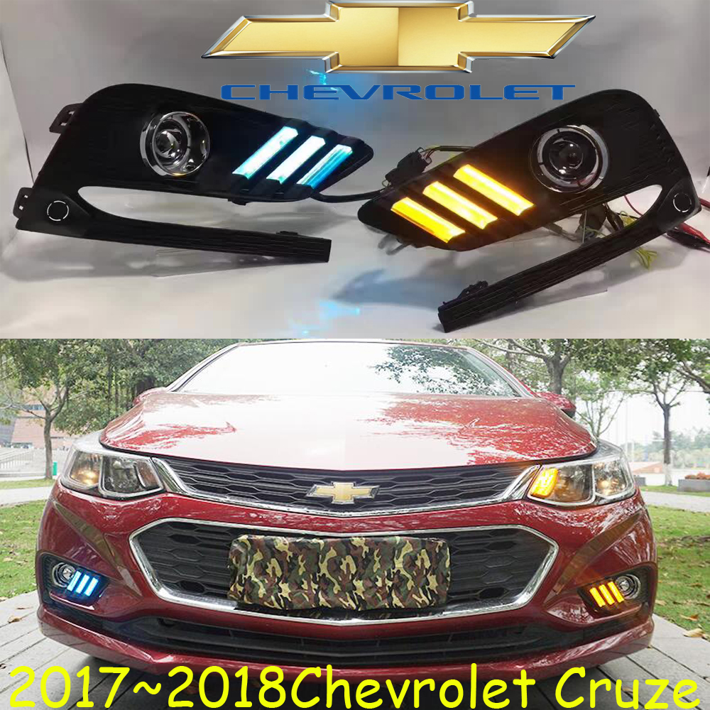 2017 2018 year,Cruz day light,chrome,LED,Free shipr!2pcs/set,Cruz fog light,cruz fog lamp,cruz hid halogen