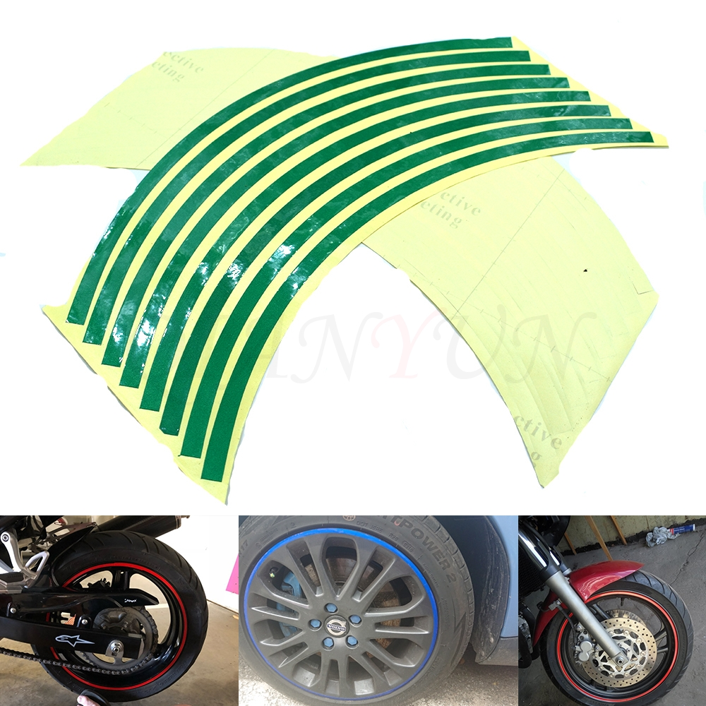 Hot Sale Motorcycle <font><b>Wheel</b></font> <font><b>Sticker</b></font> Reflective Decals Rim Tape Car/bicycle For <font><b>Yamaha</b></font> YZF <font><b>R6</b></font>/YZFR1/FZ1 FAZER/R6S image
