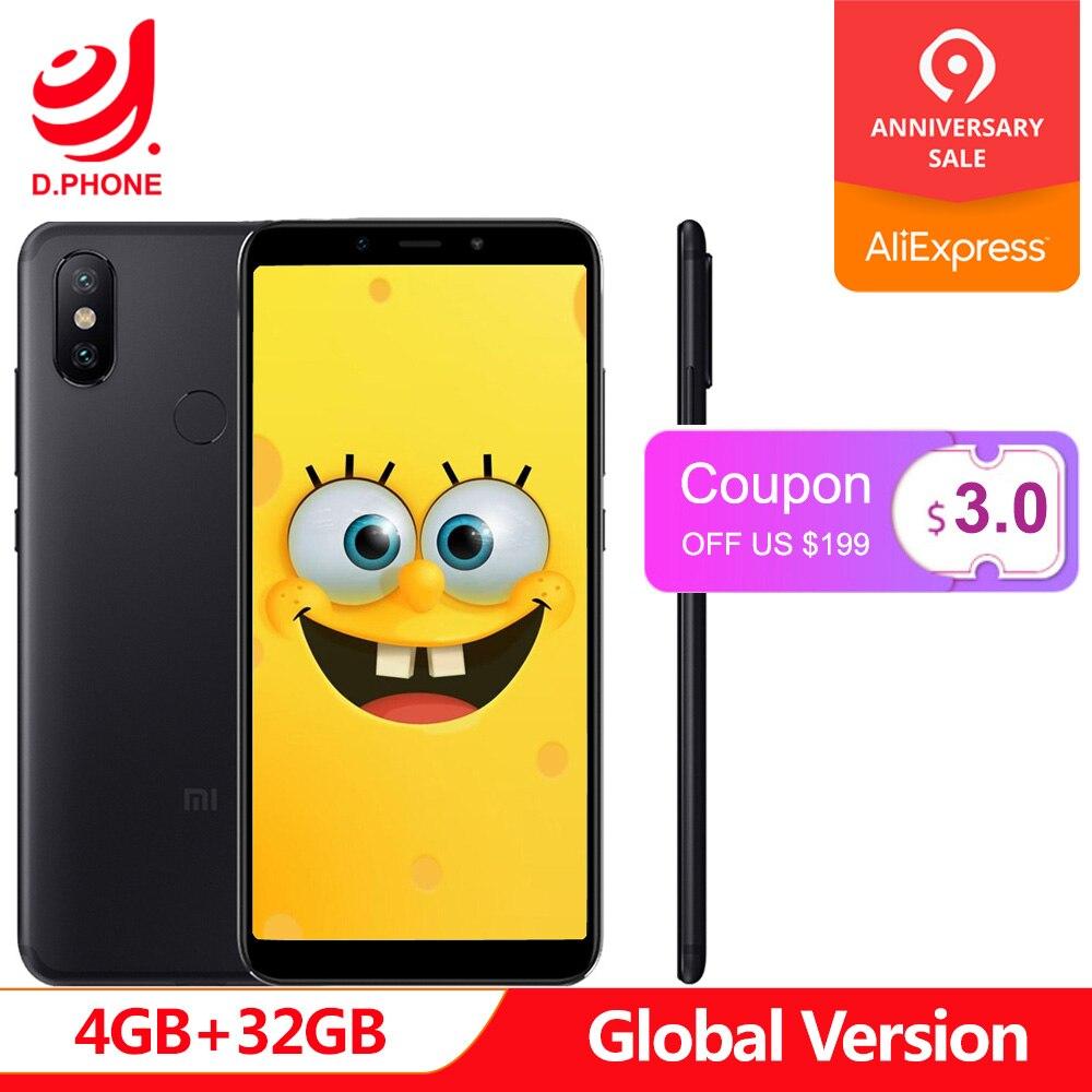 Espagne 1 ~ 5 jours ouvrables Version mondiale Xiao mi A2 4 GB 32 GB Android One 5.99 ''plein écran S660 AI double caméra mi A 2 téléphone portable