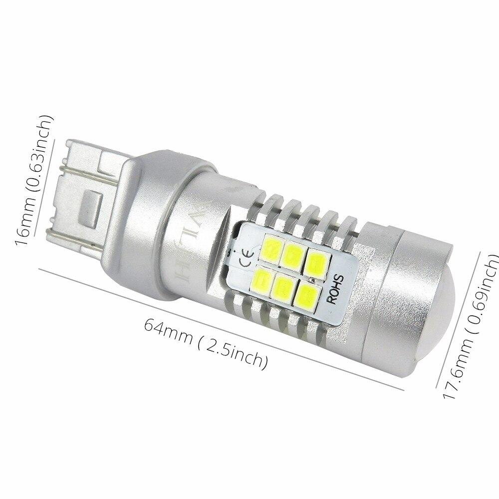 2019 Wljh 7440 7443 Led T20 Car Led Light W21 5w Auto Lamp Parking Brake Lights Turn Signal Tail
