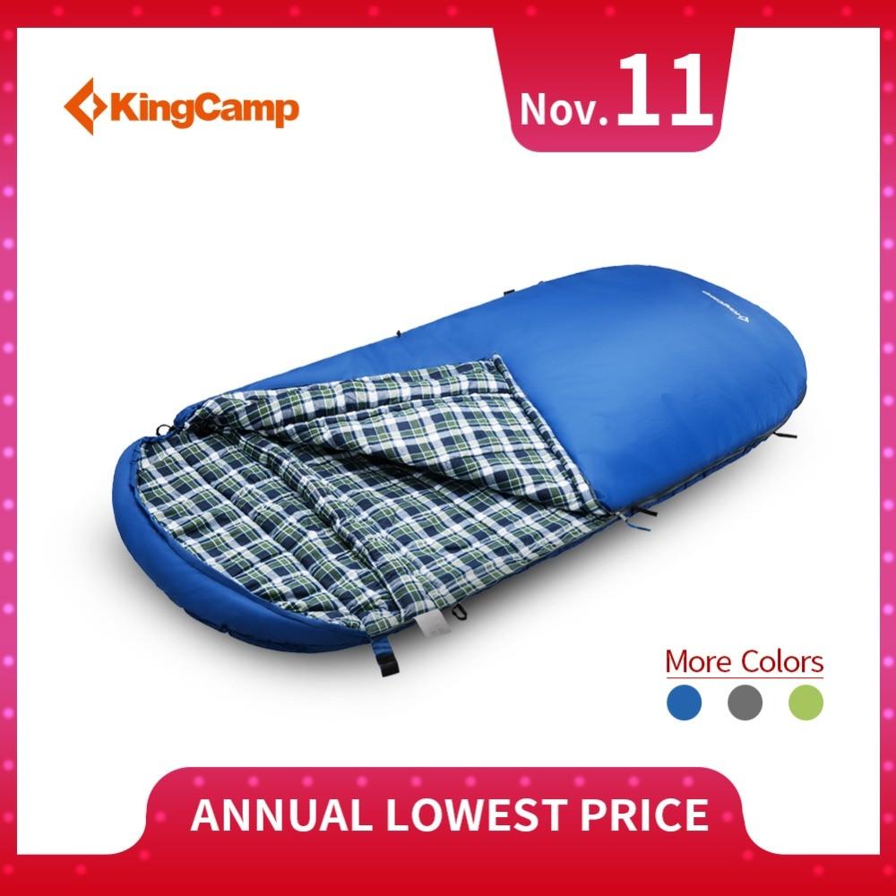 KingCamp Sleeping Bag Oversize Comfort Cotton Flannel Comfort Premium Durable Lightweight Lazy Bag for Camping Home Hiking kingcamp dot wave comfort