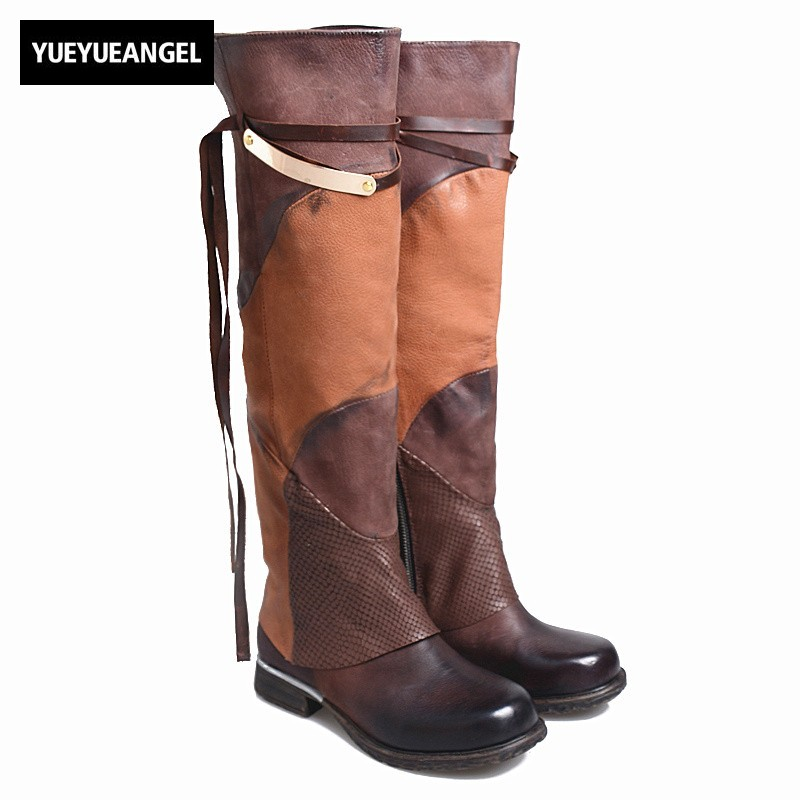 Sheepskin Fringe Long Boots Women Street Side Zipper Thick Heels Knight Botas Winter Sexy Square Toe Thigh High Boots Plus Size